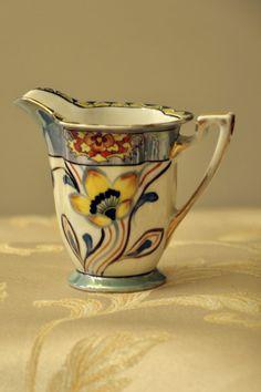 Lusterware Creamer by Noritake Art Deco