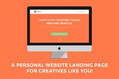 FREE UNTIL FEBRUARY 21! :: Identity: Personal Site Landing Page by Joseph Wachira on Creative Market