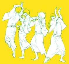 Now aren't they adorable💓 Sakamoto Tatsuma, Gintama, Okikagu, Bendy And The Ink Machine, Akatsuki, Me Me Me Anime, Webtoon, Haikyuu, Amazing Art