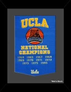 Framed UCLA National Champions Dynasty Banner