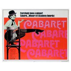 1972 Liza Minelli CABARET poster