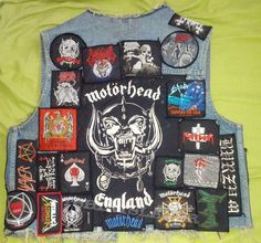 My first vest as a teen My first vest. started with that one when I was How time and taste changed. from holy poison Punk Jackets, Battle Jacket, Heavy Metal, Vests, Patches, Teen, Passion, Rock, Denim