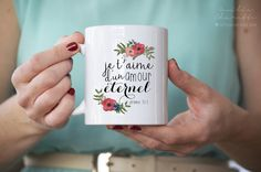 I love you with an everlasting love - Christian French coffee or tea MUG with Bible verse - 11oz