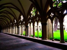 The cloisters, Salisbury cathedral