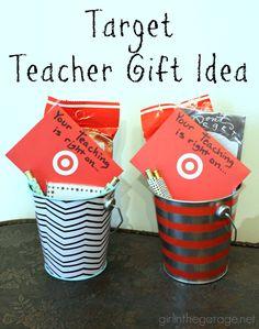 Cute and easy Target-themed teacher gift idea. girlinthegarage.net