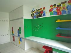 This #Lego themed boys room is amazing!!!