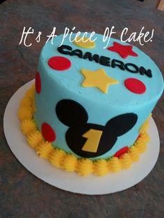 Mickey Themed Smash Cake