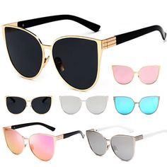 dcef7b5a20da Retro Women Cat Eye Sunglasses Vintage Shades Oversized Designer Glasses  Eyewear Oversized Glasses, Cool Sunglasses