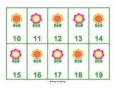 Freebie! Spring Numbers 0-30 Game. Great way to practice number recognition! Can be differentiated based on student's needs