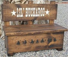 Toy Box Bench, Kid's Bench, Storage For Toys And Much More. Western Bench, Wood…