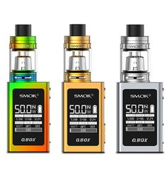 The SMOK QBOX 50W TC Starter Kit is all the things you love from SMOK'S  line-up packed into a smaller form factor. The kit consists of the SMOK QBOX 50w TC Box mod paired with the TFV8 Baby Beast. The vapor output of this device will definitely surprise you for how small it is!