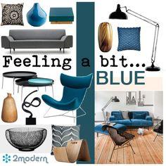 """""""Blue Modernism"""" by szaboesz on Polyvore"""