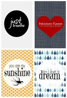 Free printables you can frame