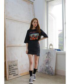 ヴィンテージムードポッププリントTシャツ| 2PER