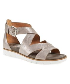 Look what I found on #zulily! Anthracite Mira Leather Sandal #zulilyfinds