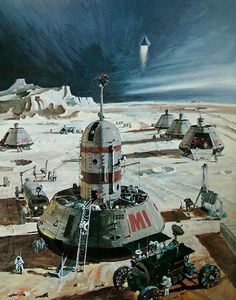 A Space Base by Robert McCall