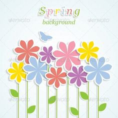 Spring Background  #GraphicRiver         Abstract spring background with colorful flowers. Vector illustration. Eps10     Created: 11April13 GraphicsFilesIncluded: JPGImage #VectorEPS Layered: No MinimumAdobeCSVersion: CS Tags: abstract #background #banner #beauty #blossom #bright #card #creative #decoration #decorative #design #element #floral #flower #fresh #graphic #greeting #invitation #leaf #meadow #nature #petal #place #plant #retro #romance #romantic #season #spring #summer