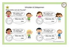 Kartei Uhrzeiten & Zeitspannen Abs, Comics, Life, German Language, Deutsch, Teaching Math, Teaching Ideas, Mathematics, Crunches