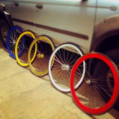 Fixie rims + tires.