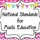 This product features the 9 National Standards for Music Education.  Each standard features a brightly colored chevron background.  Display these p...