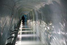 Ice Tunnel at the Top of Jungfrau, Interlaken Switzerland http://www.llworldtour.com/photo-essay-the-jungfrau-railway/