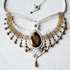 "246 Likes, 19 Comments - Elena Aki (@akielena) on Instagram: ""Necklace with titanium agate #macrame #micromacrame #svitoe #handmade #necklace #beauty #boho…"""