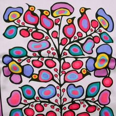 Norval Morrisseau picture.  My husband is Ojibwe from northern Ontario.  Even before we met, I always enjoyed the art of this Ojibwe artist.