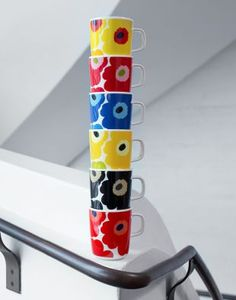 Unikko marimekko mug Marimekko, Scandinavia Design, Happy 50th, Nordic Home, Ceramic Cups, Porcelain Ceramics, Finland, Decoration, Design Inspiration