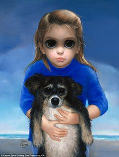Famous: Margaret Keane is famous for her depictions of big-eyed children, as seen in Beach Bums II Big Eyes Margaret Keane, Keane Big Eyes, Big Eyes Paintings, Eyes Artwork, Margret Keane, Illustrations, Illustration Art, Keane Artist, Big Eyes Artist