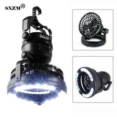 SXZM Camping Light Portable 2-in-1 LED Ceiling Fan with Emergency Light Flashlight, Portable Outdoor Survival Lamp