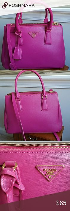 PRADA MILANO pink bag This is not auth , but very well made. Beautiful and in good condition,  no odors , no scratches outside or inside. One light mark. Prada Bags Shoulder Bags
