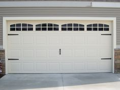 Doors Garage Door Decorative Hardware With One In The Middle Of Also