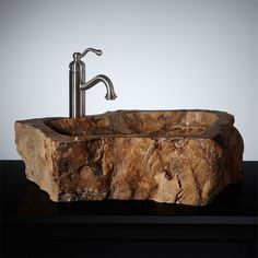 Captivating Broadbeck Petrified Wood Vessel Sink