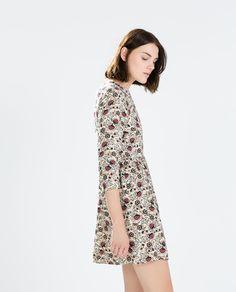 FLORAL FLOUNCE DRESS from Zara