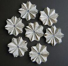 Unique Wedding Decor 50 Paper Star Ornaments by ApplesModernArt
