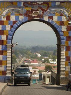 Chichicastenago. Citygate. Guatemala.