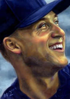 NY Yankees - Derek Jeter One of a kind Yankees Baby, New York Yankees Baseball, Baseball Art, New York Giants, Mlb Players, Baseball Players, Football Team, Funny Sports, Sports Humor