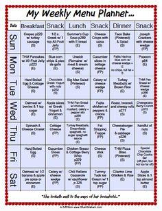 Meal Plan Schedule