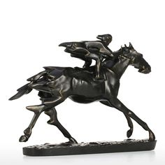 Black Horse & Rider Horse Statue Figurine Home Decor For Equestrian Lifestyle Horse Gifts, Gifts For Horse Lovers, Equestrian Outfits, Equestrian Style, Horse Sculpture, Horse Photography, Horse Art, Horse Riding, Horses