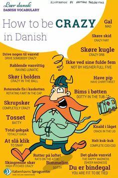 Language Study, Learn A New Language, Danish Language Learning, Danish Words, Learning Languages Tips, Swedish Language, Vocabulary, Scandinavian, Norway