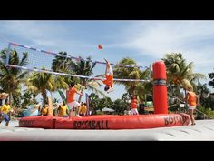 Bossaball - New sport mixing volleyball, soccer and gymnastics.