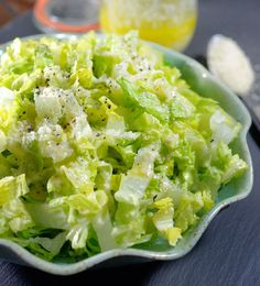 Quick Garlic Pecorino Dressing. My easy fix for a Caesar salad craving, without the need for raw eggs, anchovies, or mayo.