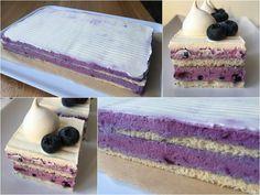 VÍKENDOVÉ PEČENÍ: Borůvkové řezy Vanilla Cake, Blueberry, Cheesecake, Baking, Desserts, Recipes, Cupcakes, Food, Pizza