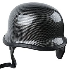 TCMT Dot Adult German Style Carbon Fiber WWII Black Half Helmet Motorcycle Chopper Cruiser Biker Helmet L. Great and Beautiful UV protective finished,Light weight extremely durable. Stainless Steel Dual D-ring,Perfect for cruiser,touring and scooter. The helmet is really comfortable while riding and it features an adjustable chin strap. Helmet Size: Large(22 3/8 - 22 3/4 Inch),Hat Size :7 1/8 - 7-1/4. Pacakge Included: 1x Helmet,1xHelmet Bag.