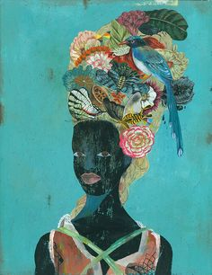 Ilustrações do artista alemão OLAF HAJEK.  Black Antoinette.