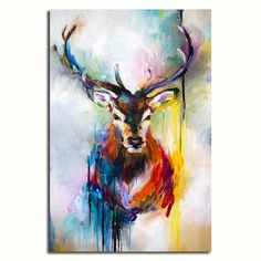 'A Deer Emerges' Beautiful Oil Canvas Print