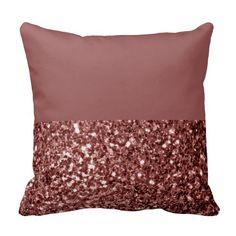 Beautiful Glam Marsala Brown-Red Glitter sparkles Pillow. Pantone Color of the Year 2015: Marsala Designs We Love at Design Connection, Inc. | Kansas City Interior Design http://www.DesignConnectionInc.com/Blog