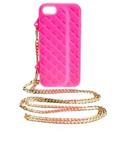 ASOS Quilted iPhone 5 Case With Cross Body Chain