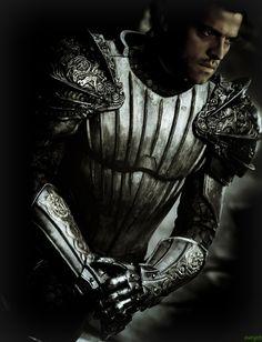 "Karl Urban - ""The Chronicles of Riddick"" - Costume designers : Michael Dennison & Elle Mirojnick Armadura Medieval, Knight In Shining Armor, Knight Armor, Dark Knight, Fantasy Armor, Medieval Fantasy, The Chronicles Of Riddick, Moda Medieval, Karl Urban"