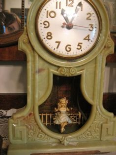 Vintage Mastercrafters Girl on a Swing Clock ~ Love this!